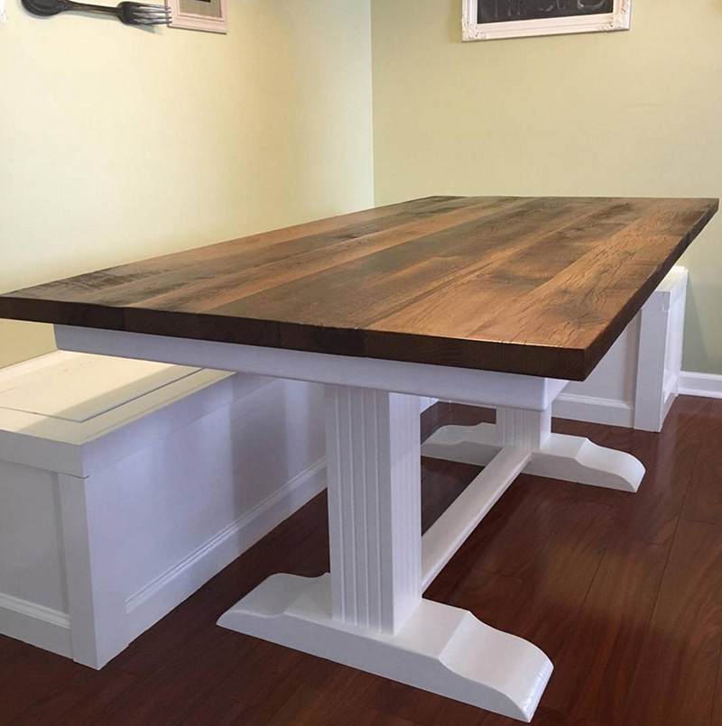Custom Reclaimed Wood Products Tuscarora Wood Midwest - Reclaimed oak table top