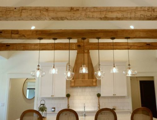 Rustic Elegance in Hand Hewn Beams